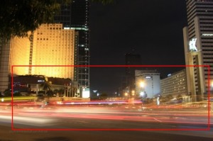 tips foto light trail di bundaran hi