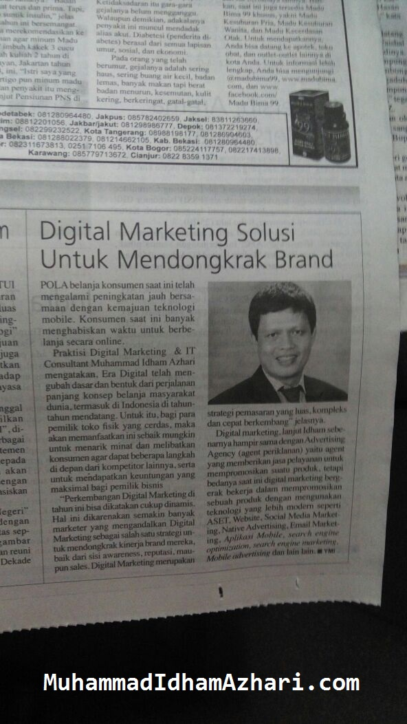 Artikel Digital Marketing Muhammad Idham Azhari
