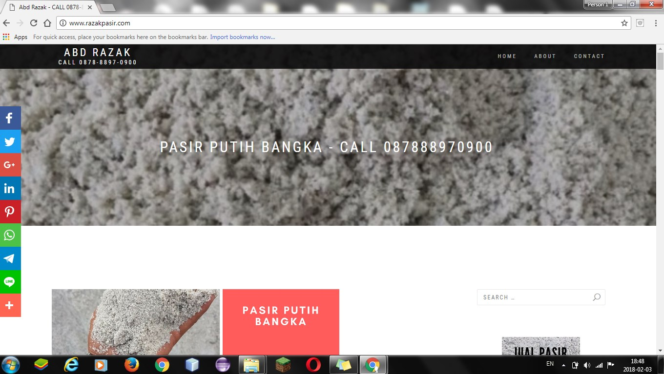 Supplier Pasir Putih Bangka