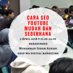 Cara SEO YouTube Mudah Dan Sederhana Melalui Grup WA Digital Marketing