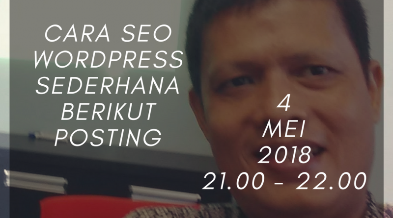 Cara SEO WordPress Sederhana Berikut Posting Melalui Grup Telegram CV Remake & Career Dev