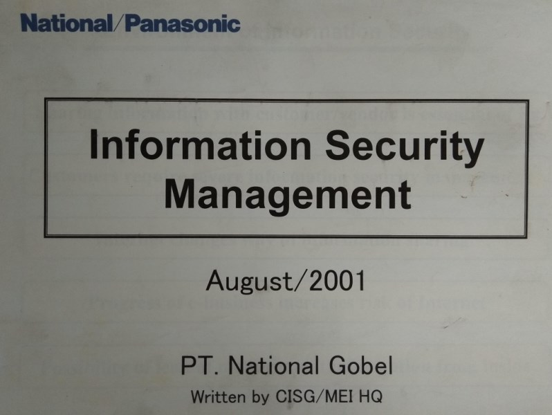 Project Information Security Management Dalam Lingkup Panasonic Indonesia