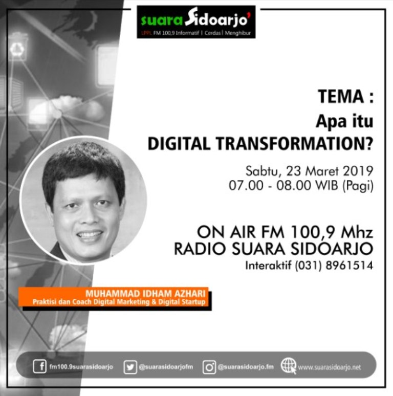 Apa itu DIGITAL TRANSFORMATION by Muhammad Idham Azhari