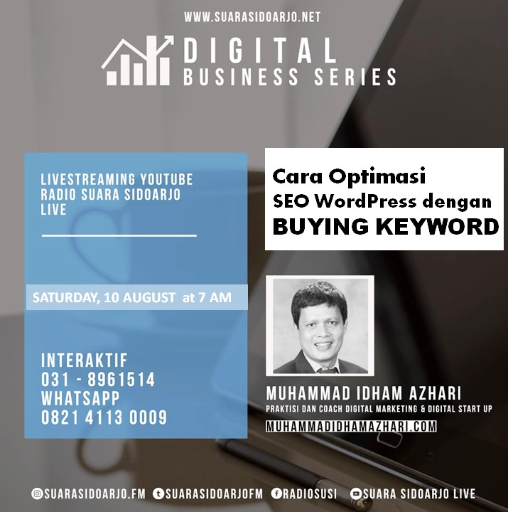 Cara Optimasi SEO WordPress dengan BUYING KEYWORD by Muhammad Idham Azhari