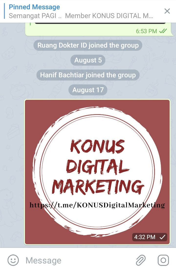Coach Digital Marketing Grup Telegram KONUS DIGITAL MARKETING