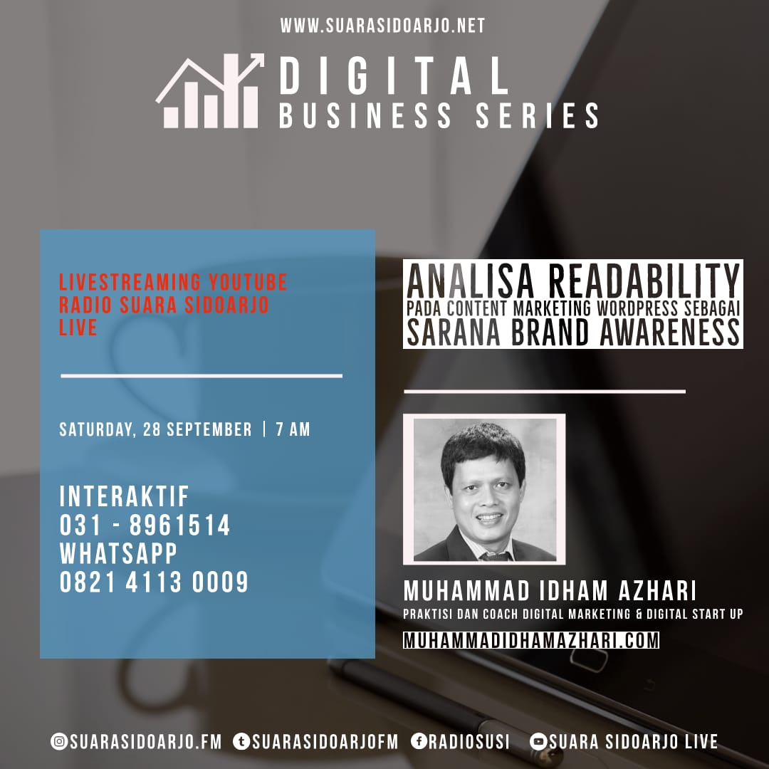 Analisa Readability Pada CONTENT MARKETING WordPress Sebagai Sarana BRAND AWARENESS by Muhammad Idham Azhari