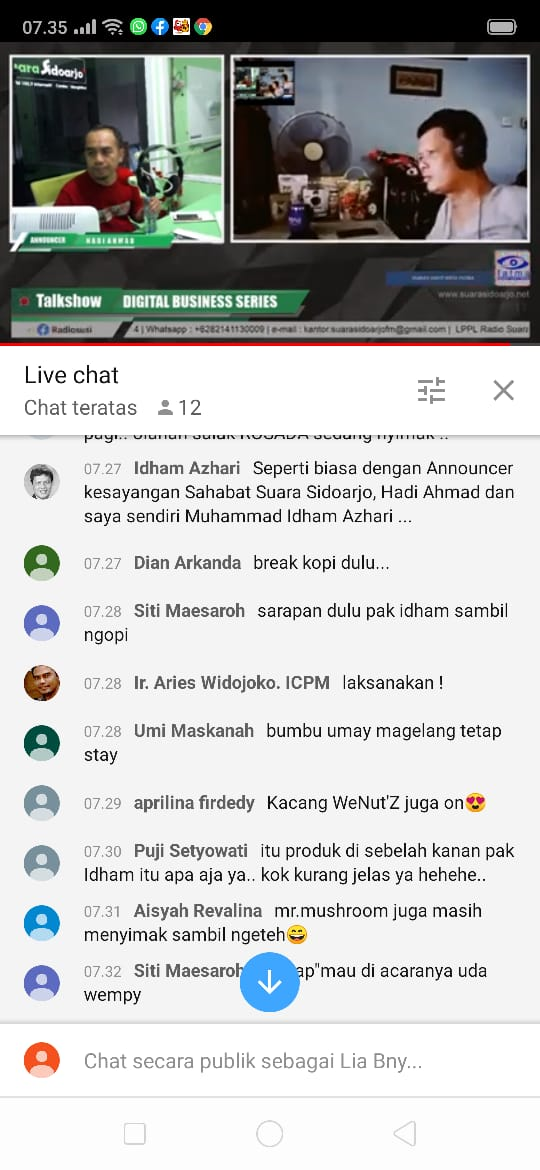 Channel YouTube Radio Suara Sidoarjo