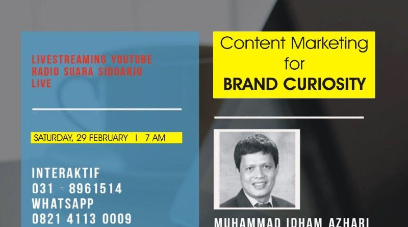 Content Marketing for BRAND CURIOSITY Melalui Suara Sidoarjo