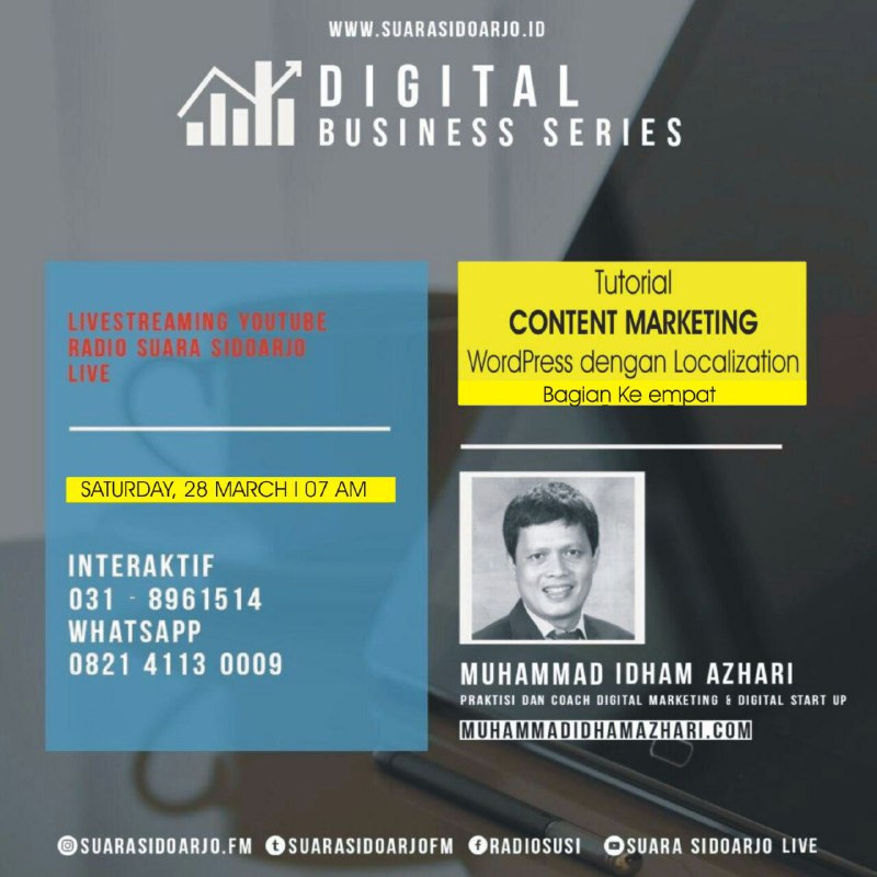 Tutorial CONTENT MARKETING WordPress dengan Localization - Bagian Keempat by Muhammad Idham Azhari
