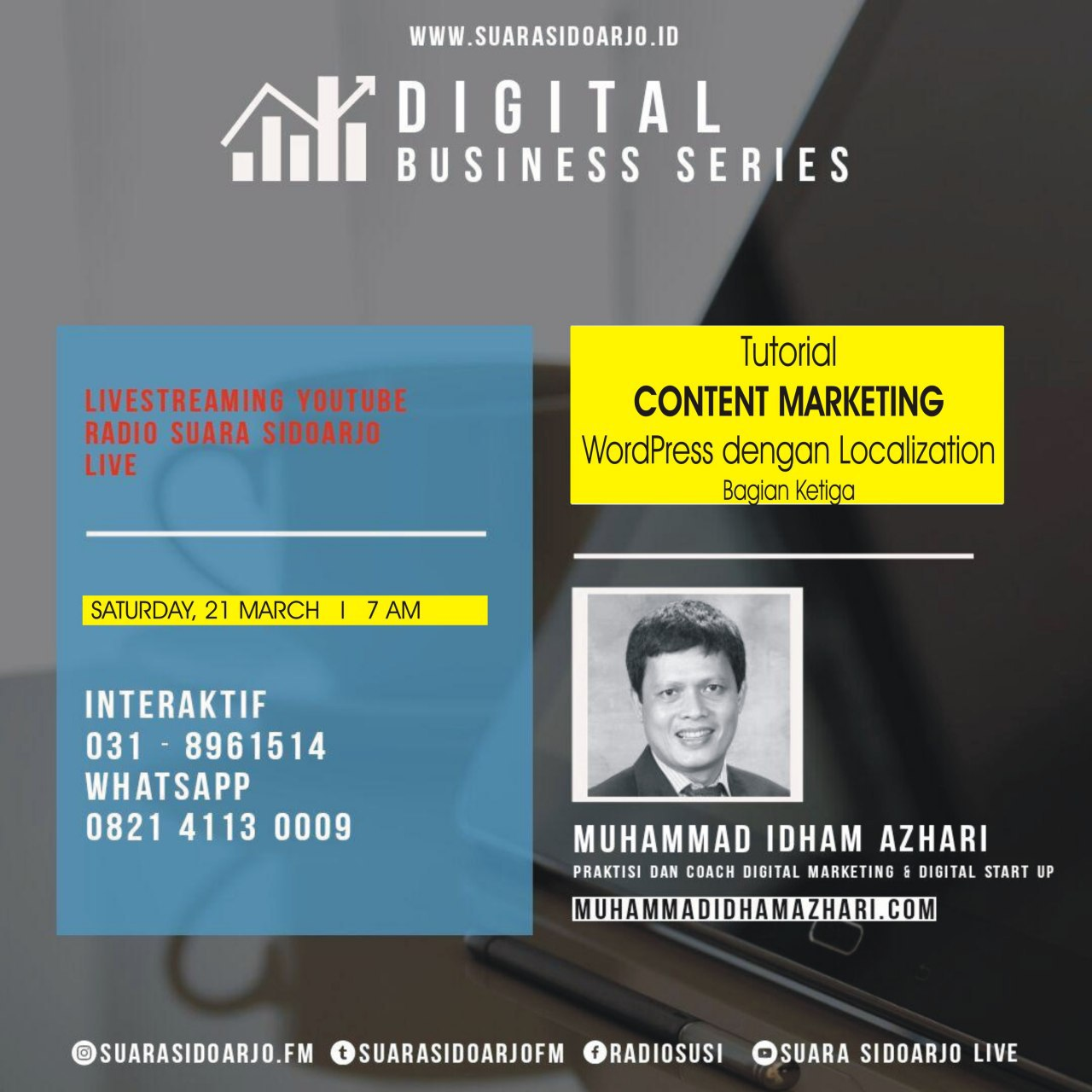 Tutotial CONTENT MARKETING WordPress dengan Localization - Bagian Ketiga by Muhammad Idham Azhari