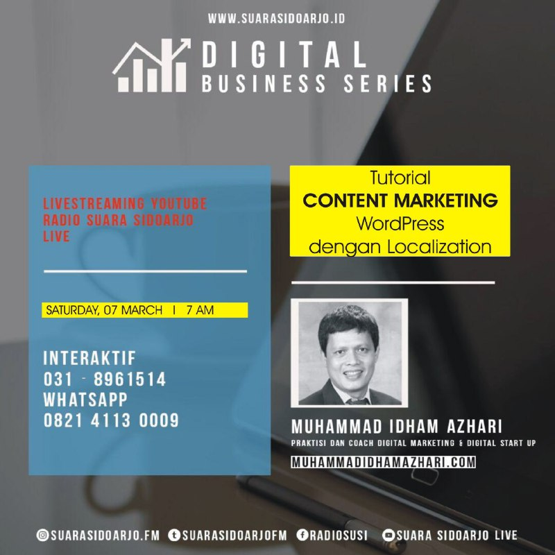 Tutorial CONTENT MARKETING WordPress dengan Localization by Muhammad Idham Azhari